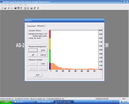 particle size analyzer software-background