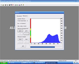 particle size analyzer software-measurement